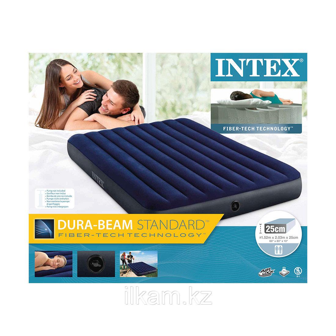 Матрас надувной, двухместный, Intex  203 х 152 х 25 см