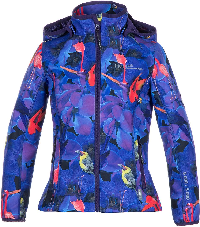 Куртка Softshell для девочек JANET, лилoвый с принтом