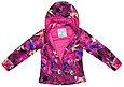 Куртка Huppa Softshell для девочек JANET, фуксиа с принтом, фото 2