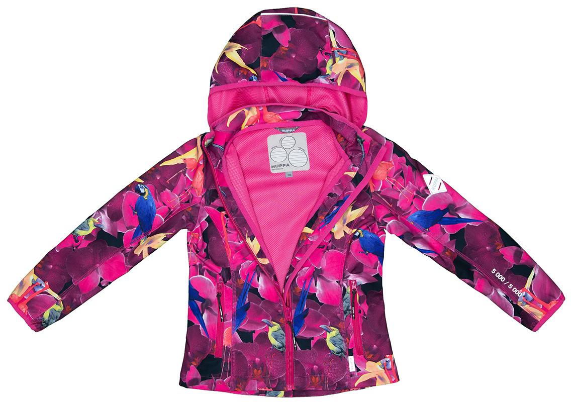 Куртка Huppa Softshell для девочек JANET, фуксиа с принтом - фото 2