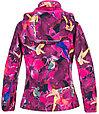 Куртка Huppa Softshell для девочек JANET, фуксиа с принтом, фото 3
