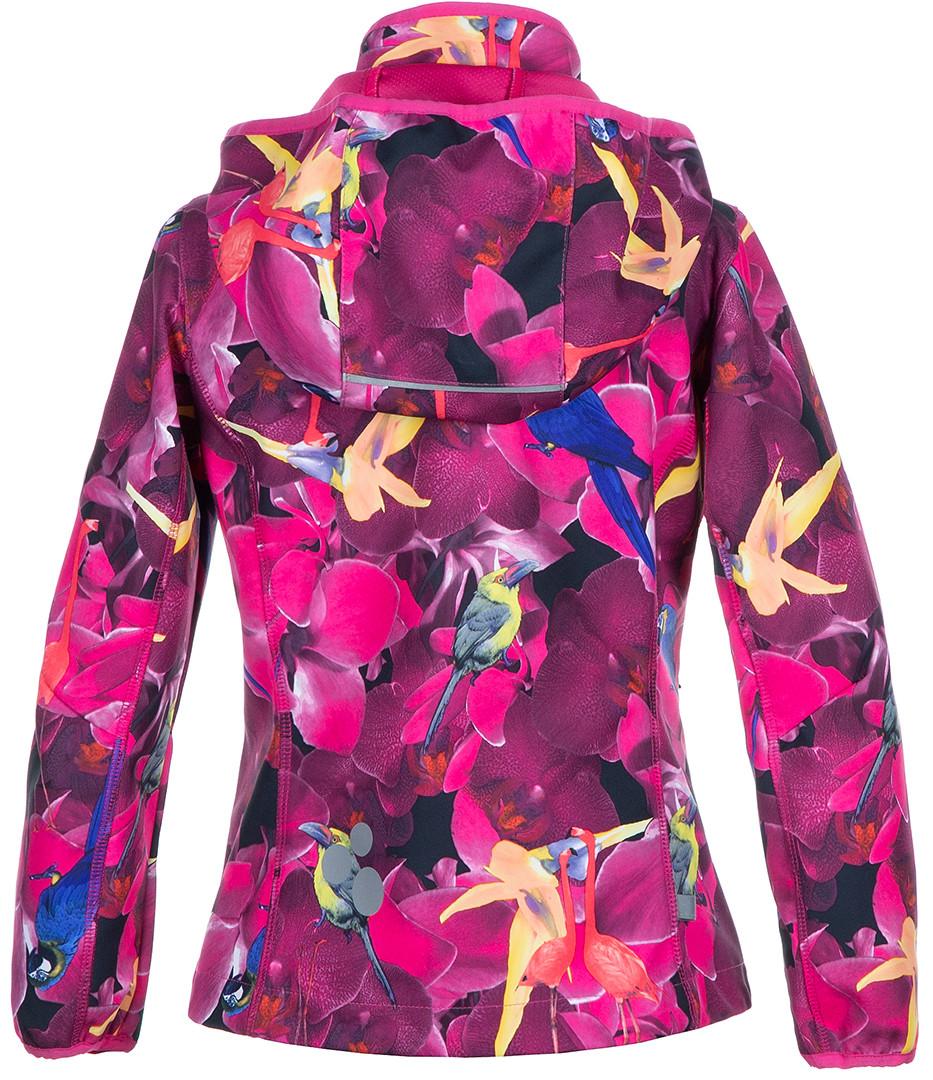 Куртка Huppa Softshell для девочек JANET, фуксиа с принтом - фото 3