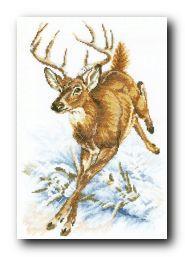 """Набор для вышивания крестом """"Лесной олень"""""""