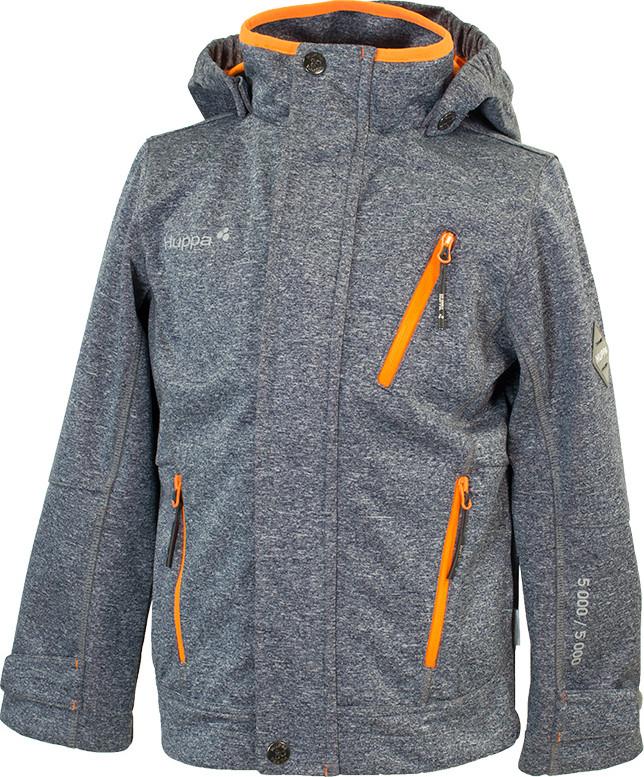 Куртка Huppa Softshell для мальчиков JAMIE, тёмно-серый/оранжевый