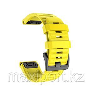 Ремешок силиконовый желтый 22мм на Garmin Fenix5, fenix 5plus, fenix 6, фото 2