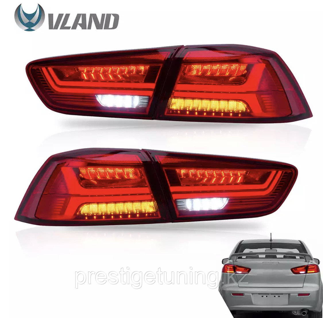 Задние фонари Mitsubishi Lancer Audi style Red Color 2008 -2019