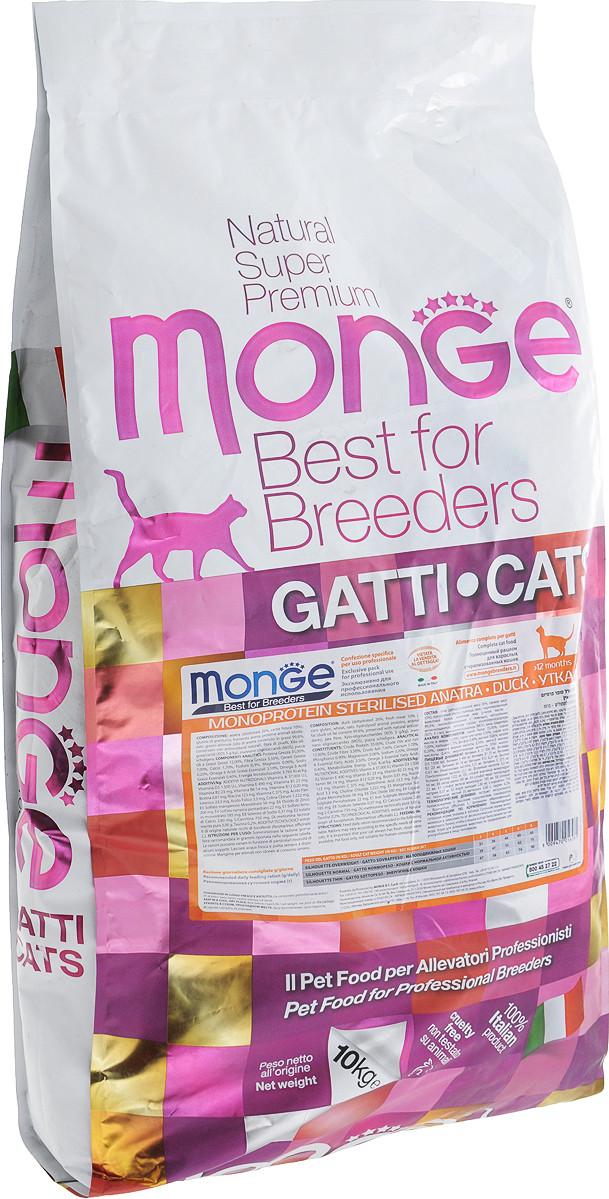 Сухой корм для стерилизованных кошек Monge (Монже) с Уткой