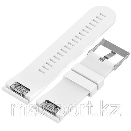 Ремешок силиконовый белый 22мм для Garmin fenix 5, fenix 5plus, fenix 6, фото 2