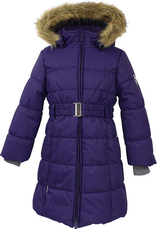 Пальто зимнее для девочек YACARANDA, тёмно-лилoвый