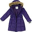 Пальто зимнее для девочек YACARANDA, тёмно-лилoвый, фото 4