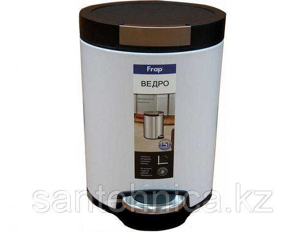 FRAP F717 Ведро для мусора 5л. белое, фото 2