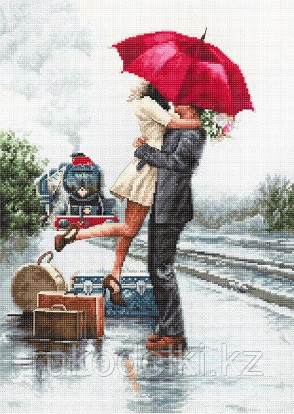"""Набор для вышивания крестом """"Влюбленные на вокзале"""""""