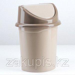Ведро с подвижной крышкой 10 л пластик