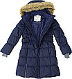 Пальто для девочек Huppa YACARANDA, тёмно-синий, фото 3