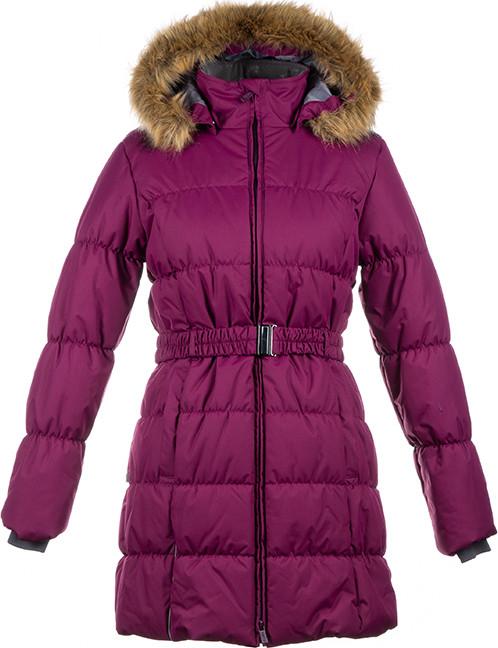 Пальто Huppa для девочек YACARANDA, бордовый S-M