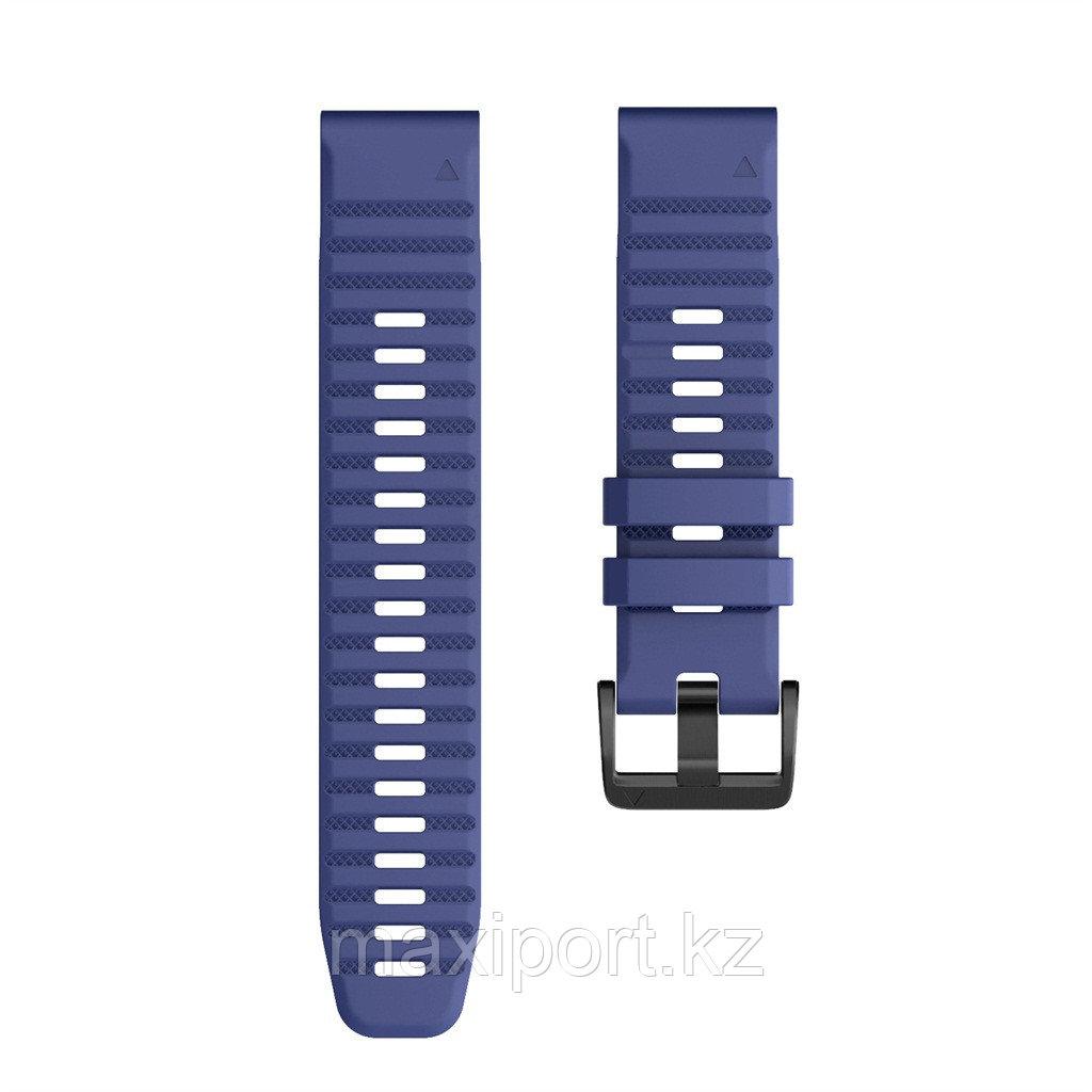 Ремешок силиконовый синий 22мм на Garmin fenix 5, fenix 5plus, fenix 6