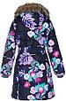 Пальто для девочек Huppa YACARANDA, чёрный с принтом, фото 3