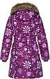 Пальто для девочек Huppa YACARANDA, бордовый с принтом - 146, фото 3