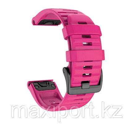 Ремешок силиконовый красно-розовый 22мм на Garmin fenix 5, fenix 5plus, fenix 6, фото 2