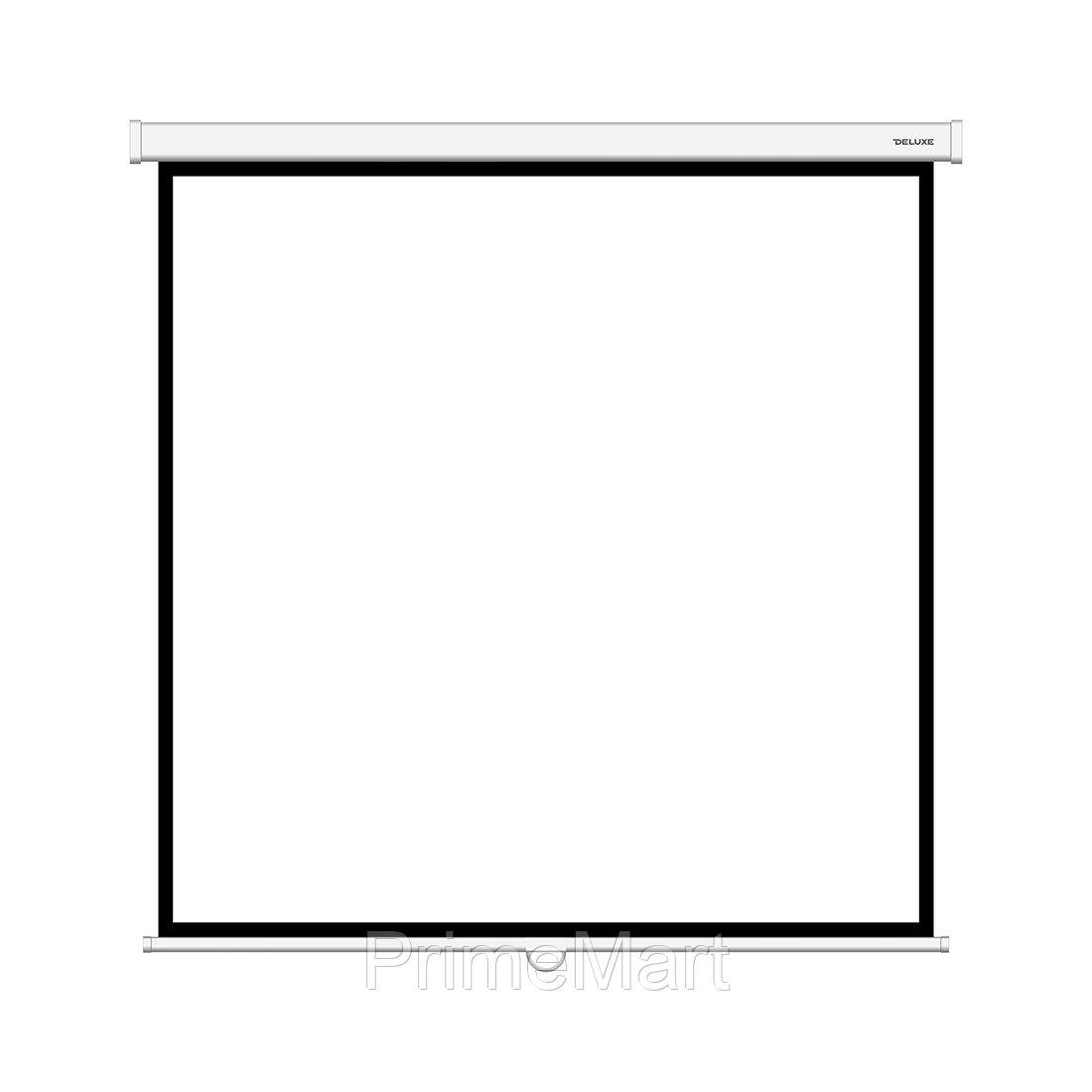 Экран механический, Deluxe, Настенный/потолочный, Рабочая поверхность 172x172, 1:1, Matt white, Белый