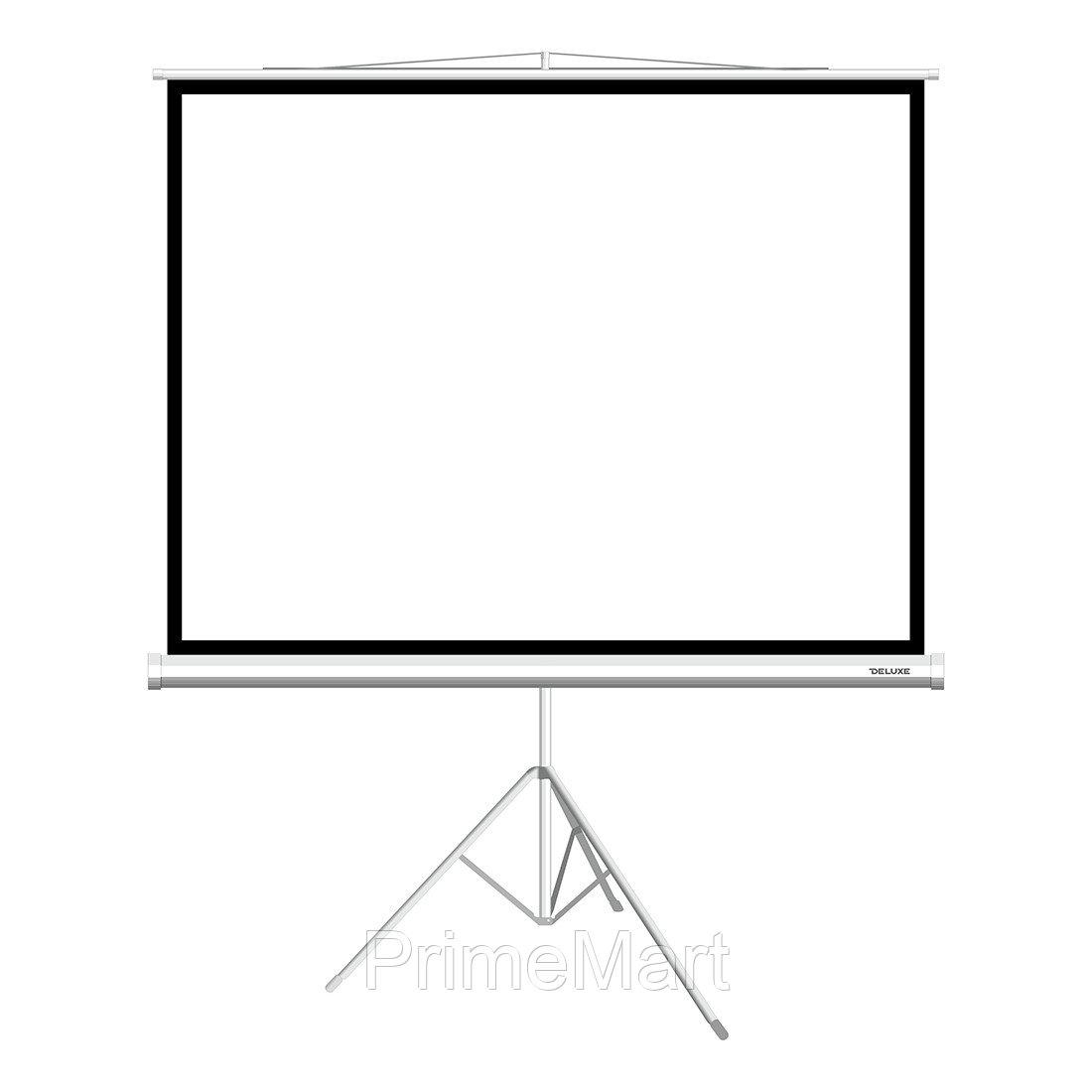 Экран на треноге, Deluxe, DLS-T153x116W, Рабочая поверхность 149х112 см., 4:3, Matt white, Белый