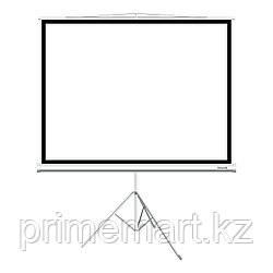 Экран на треноге, Deluxe, DLS-T153x, Рабочая поверхность 149х149 см., 1:1, Matt white, Чёрный