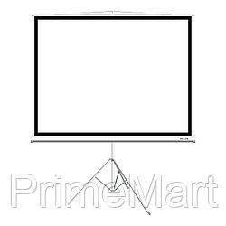 Экран на треноге, Deluxe, DLS-T203x154W, Рабочая поверхность 195х145 см., 4:3, Matt white, Белый