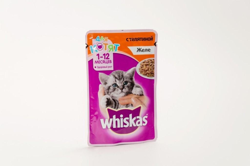 Влажный корм для котят Вискас Желе Телятина