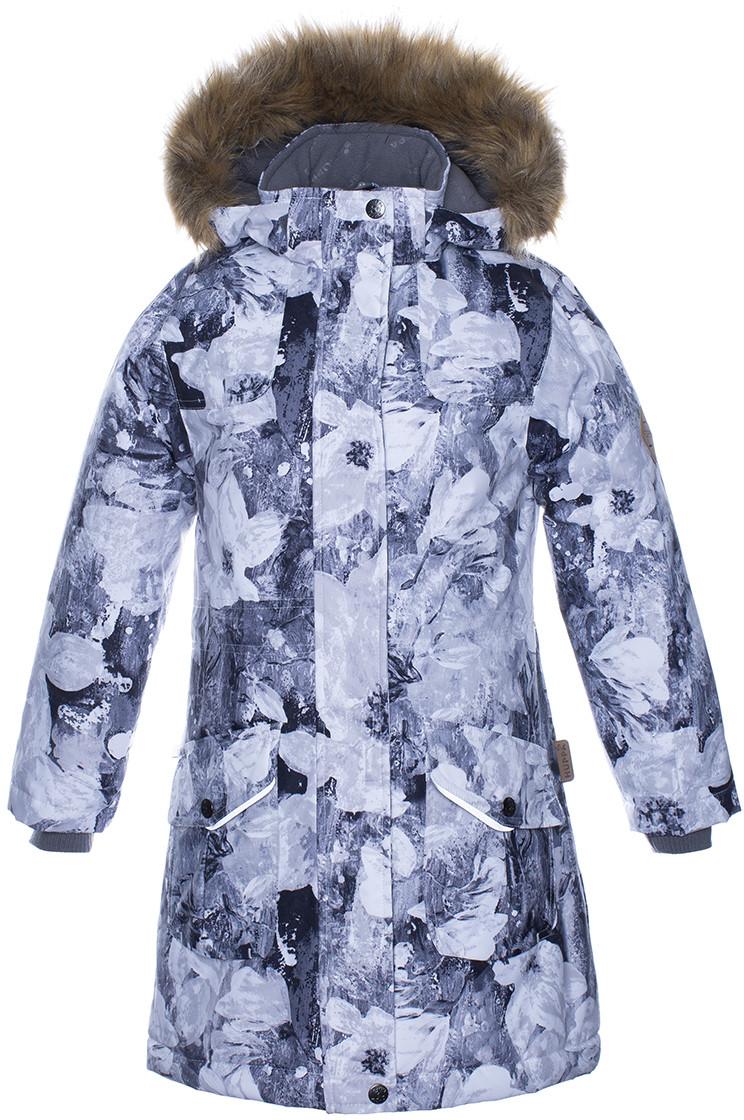Куртка для девочек Huppa MONA, светло-серый с принтом XS