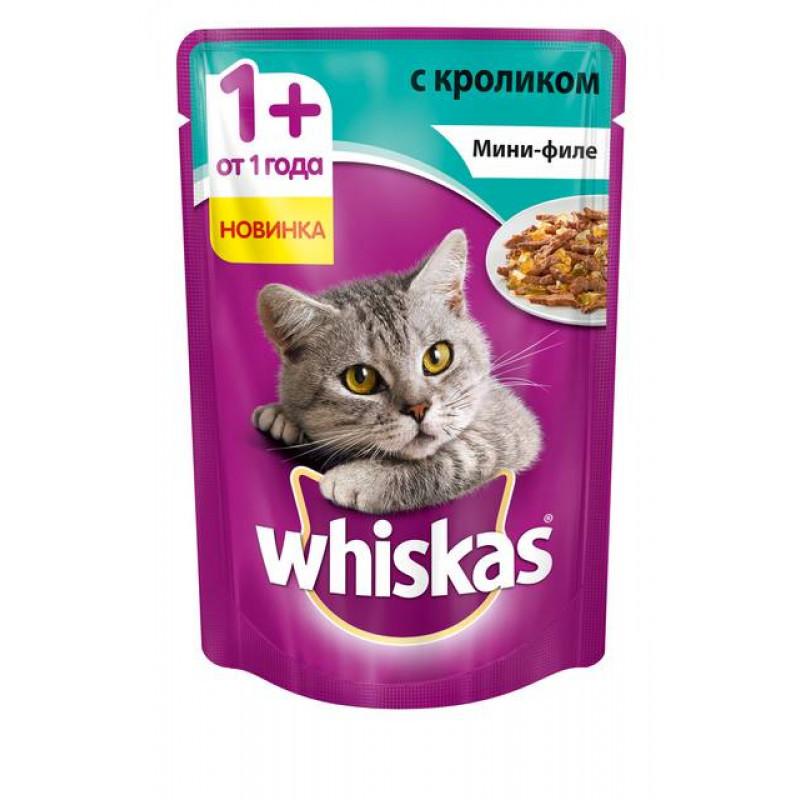 Влажный корм для кошек Вискас Мини-филе Кролик