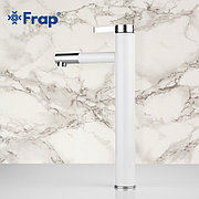 Смеситель д/раковины высокий Frap F1052-15 белый/хром