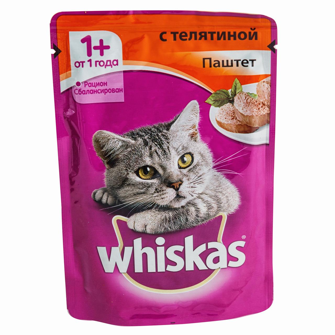 Паштет для кошек Вискас Телятина