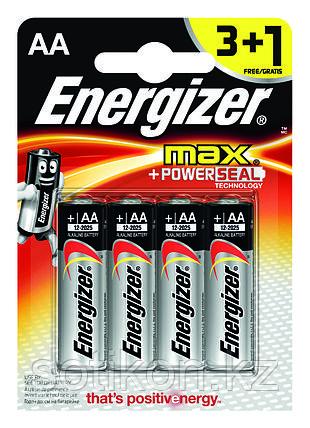 Элемент питания LR6 AA Energizer MAX  Alkaline 3+1 штуки в блистере АКЦИЯ, фото 2