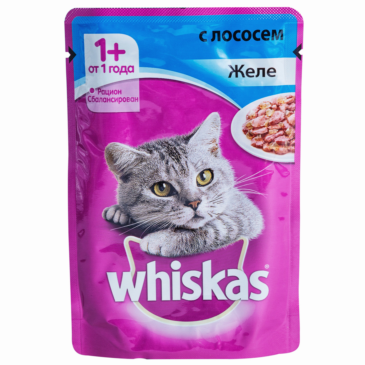 Влажный корм для кошек Вискас Желе Лосось
