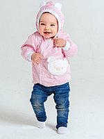 Ветровка Медвежонок (хлопок) розовая арт. 1328/005