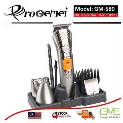 Набор для мужской стрижки - беспроводной триммер 7-в-1 ProGemei GM-580, фото 2