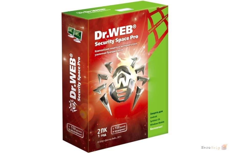 Антивирус Dr.Web Security Space (коробка) для всех устройств 2018, 12 мес., 2 устройства