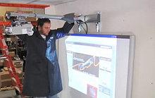 Монтаж интерактивного проектора (проектор+экран+ПО)