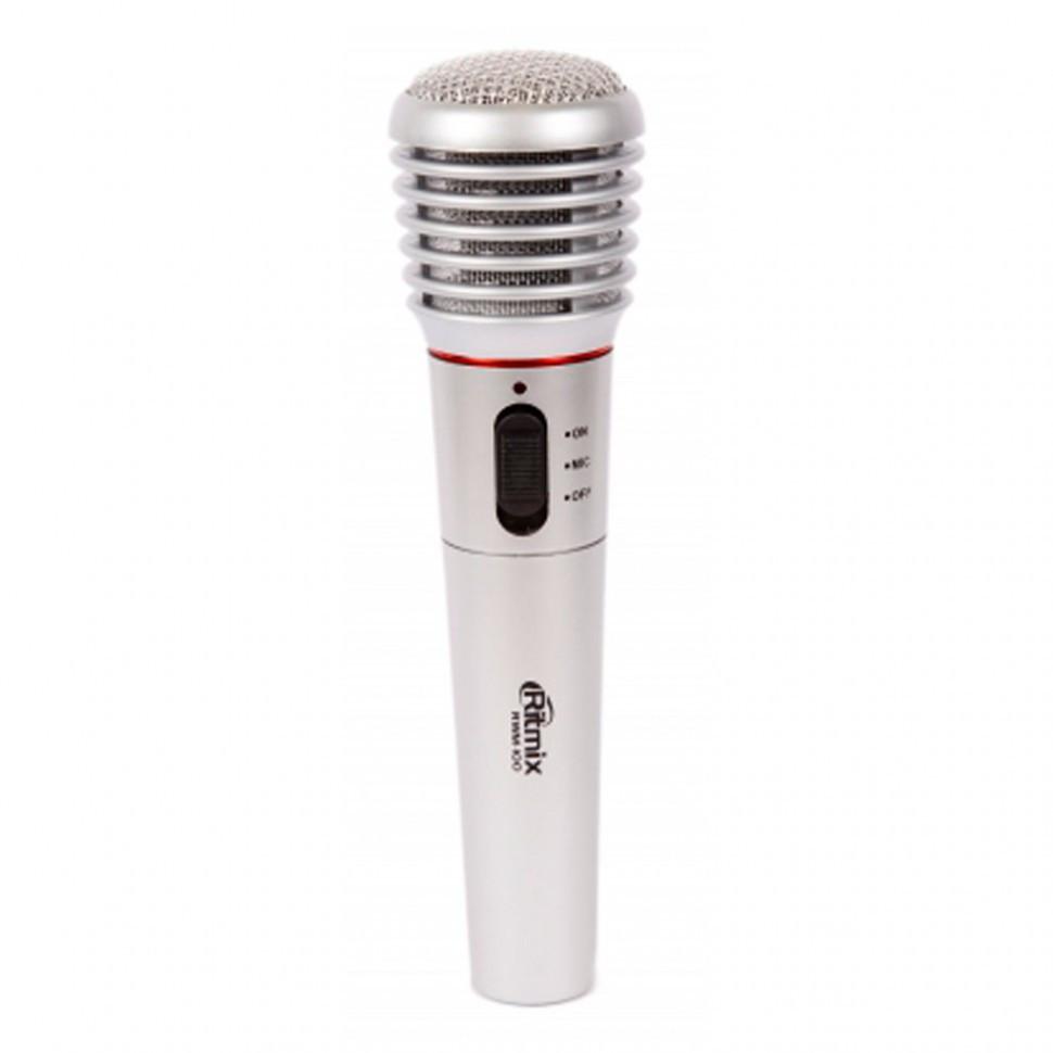 Микрофон вокальный RITMIX RWM-100 титан