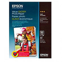 Фотобумага A4 Epson C13S400036Value Glossy Photo Paper A4 50 sheet