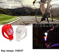 Велосипедный фонарь мини 2 LED Набор Push Cycle Clip силиконовый в упаковке 2 штуки