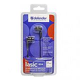 Наушники вставки Defender Basic 604, черный, 63604, фото 2