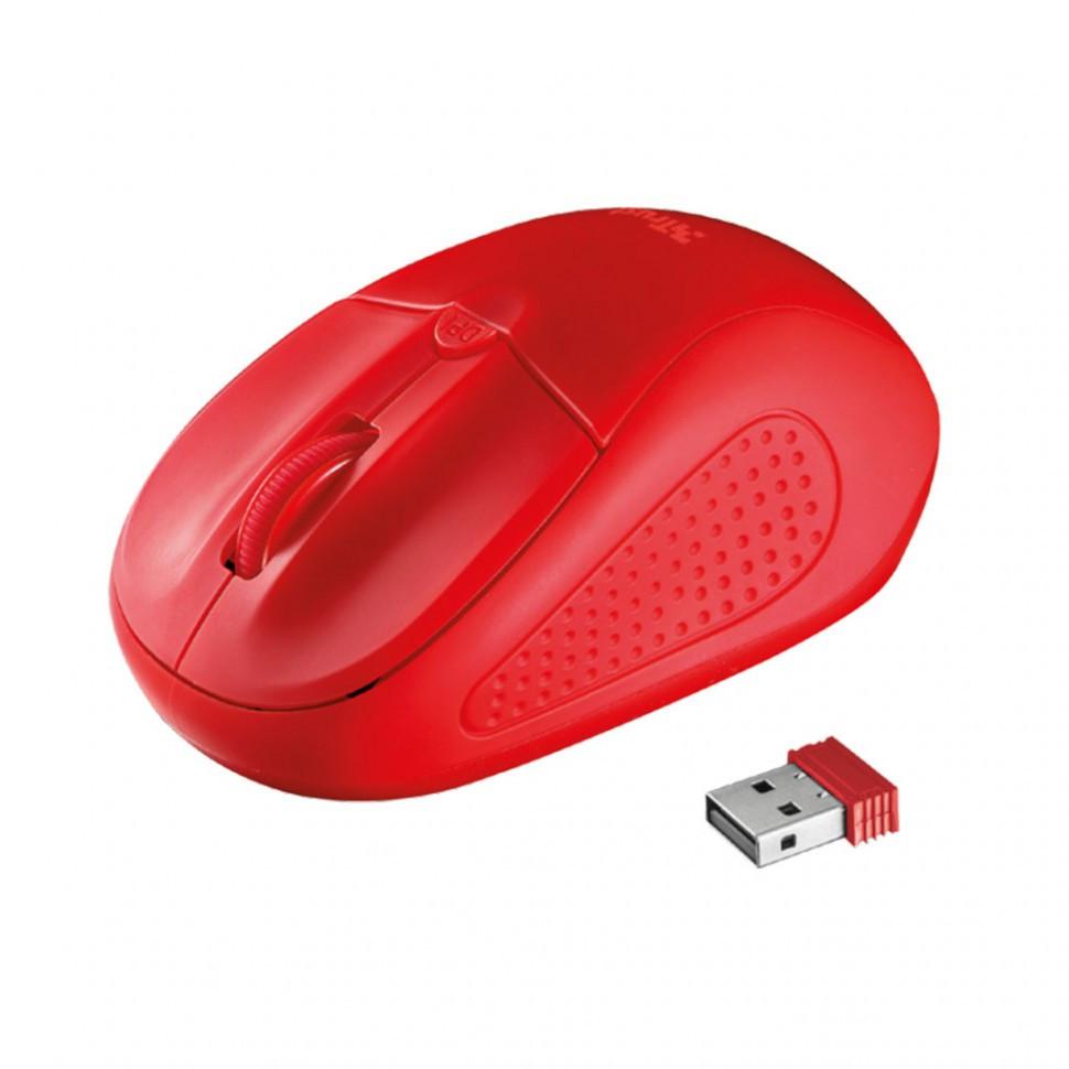 Компьютерная мышь Trust Primo красный