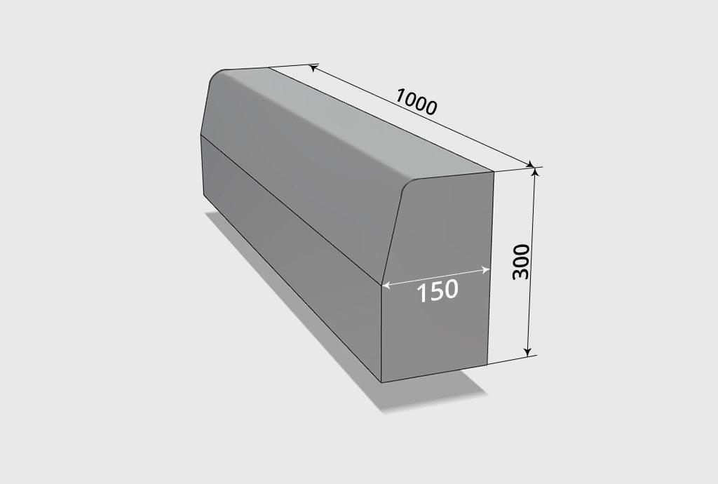 Матрица блок формовочного станка QT5 для производства бордюра 1000*150*300
