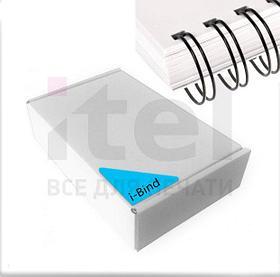 """Перепл. пружина металл 3:1 A4 size 1/4"""" (6,4мм/30) черные (100шт в пачке) iBind"""