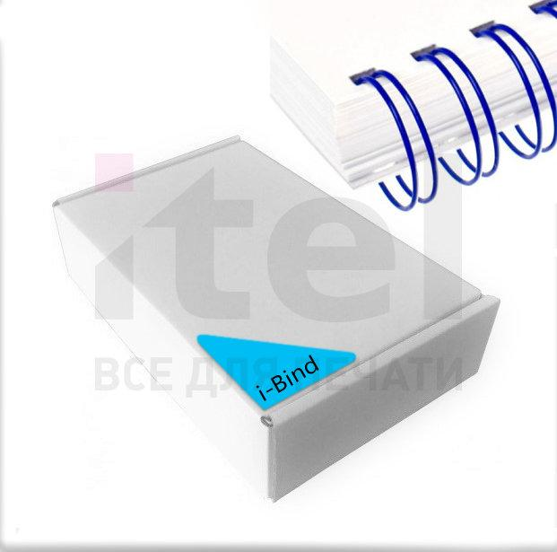 """Перепл. пружина металл 3:1 A4 size 5/16"""" (7,9мм/50) синие (100шт в пачке) QP"""
