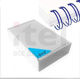 """Перепл. пружина металл 3:1 A4 size 3/8"""" (9,5мм/65) синие (100шт в пачке) QP"""