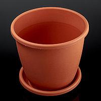 Горшок с поддоном «Афина», 11 л, цвет коричневый
