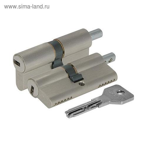 Цилиндровый механизм под вертушку CISA ASIX OE302-23.12, 100/45х10х45 мм, цвет никель