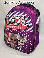 Школьный ранец для девочек, 1-2 класс.Высота 37 см, ширина 28 см, глубина 15 см.